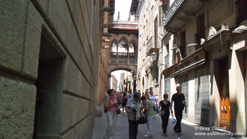 In the Barri Gotic district of Barcelona