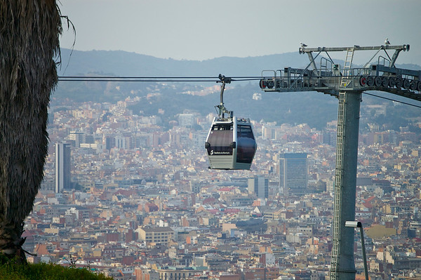 Cable car to Montjuic