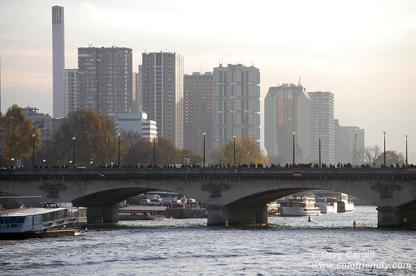 Contemporary Paris seen from the Seine