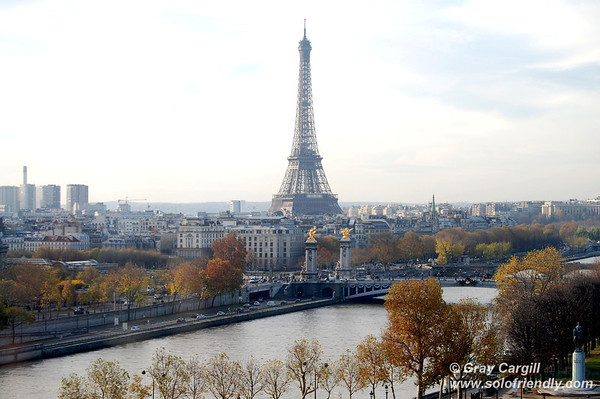 View of Eiffel Tower from Ferris Wheel, Place de la Concorde