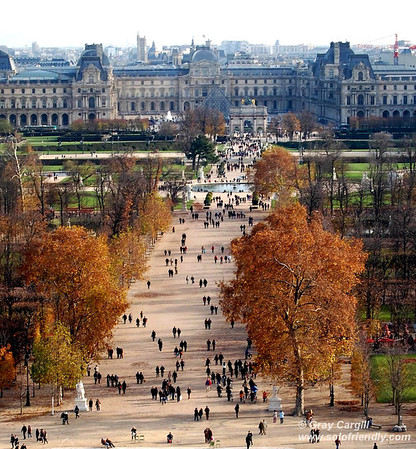 Tuileries Gardens and Louvre
