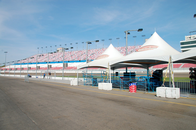 At the Las Vegas Motor Speedway