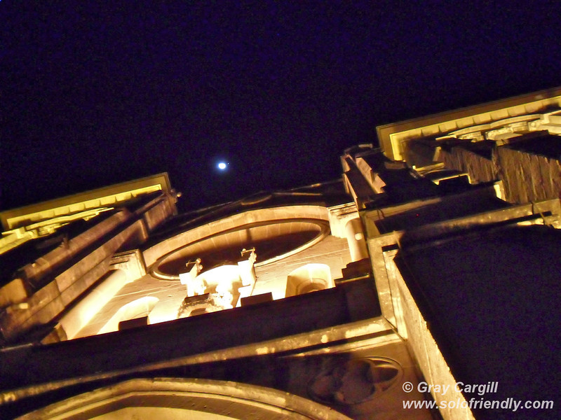 Moon over San Fernando Cathedral