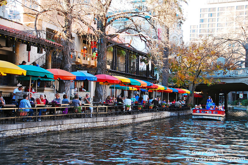 Restaurants along the Riverwalk