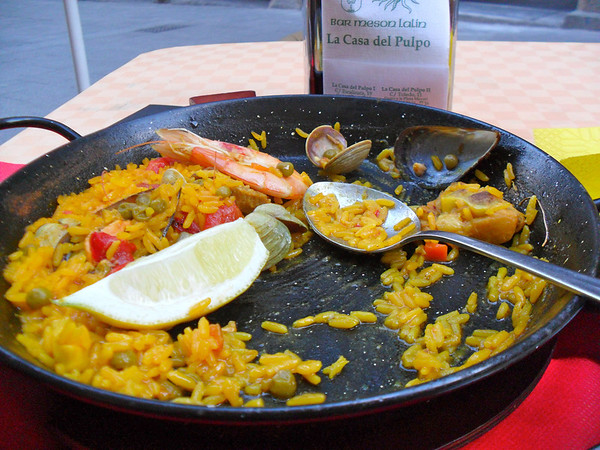 remains of paella
