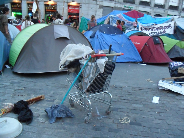 protest camp in Puerta del Sol