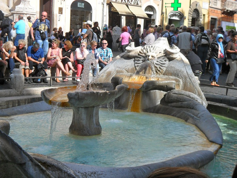 The Barcaccia Fountain