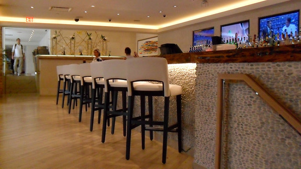 Bar seating at Cafe Nikki