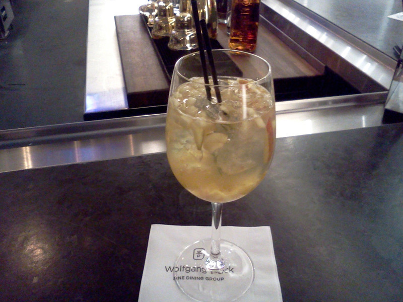 White sangria at Postrio