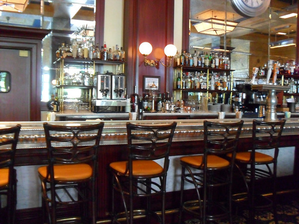 Bar seating at Bouchon