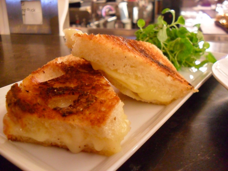 The mini grilled cheese sandwich at Postrio