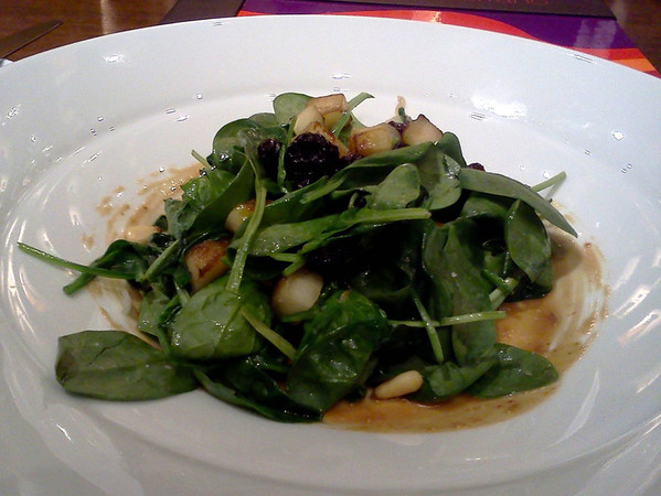Sauteed baby spinach