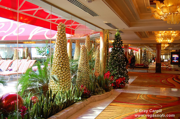 Golden Nugget Christmas trees