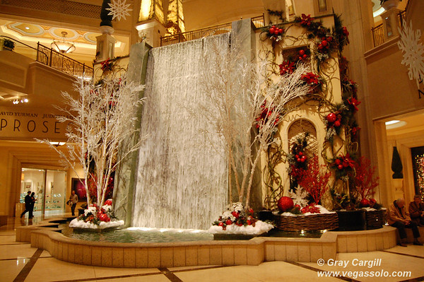 Palazzo decked out for Christmas