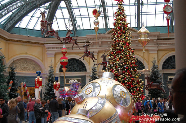 The Bellagio's Christmas display 2010