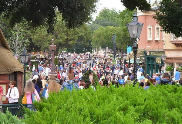 The crowd in World Showcase for Disney's Food & Wine Festival